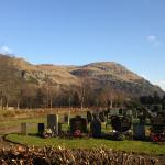 Dumyat with Logie cemetary in the foreground