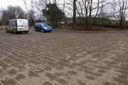 Blairlogie Car park prior to resurfacing.